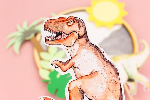 Dinosaur Cake Topper Scene