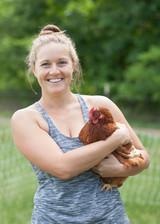 Farm manager Melissa loves her girls.