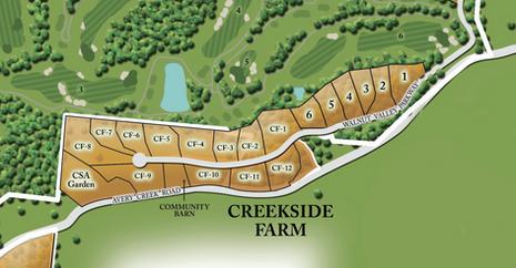 Site Plan for Creekside Farm agrihood