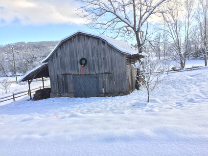 The old barn in winter