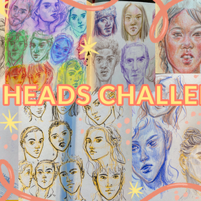 [VIDEO] 🖋drawing 100 heads in 10 days!   100 Heads Challenge