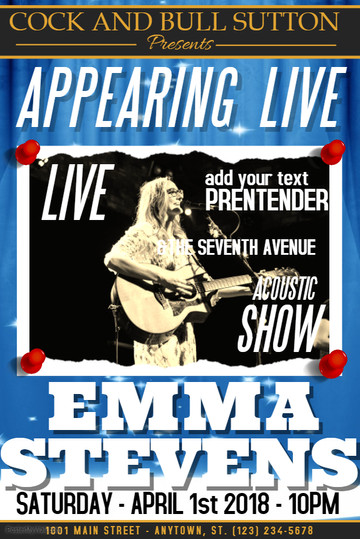 Copy of Concert Poster Template - Made w