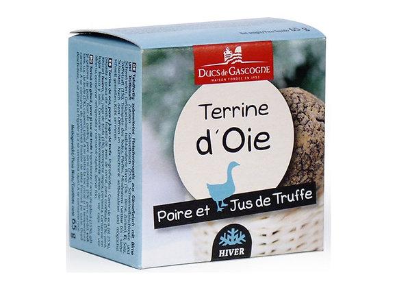 Terrine d'oie Poire/Truffe 65 grs