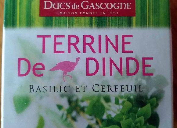 Terrine de Dindes au Basilic 65 grs