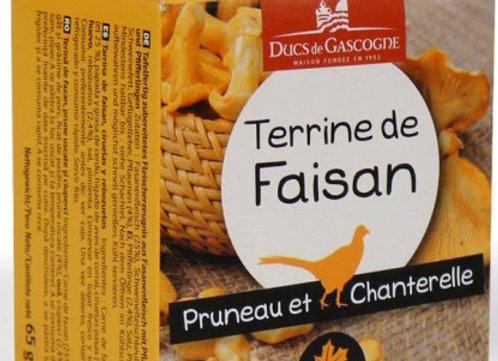 Terrine de Faisan Pruneau/Chanterelles 65 grs