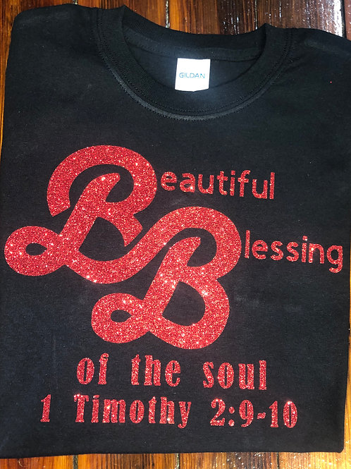 Beautiful Blessings Black T-shirt
