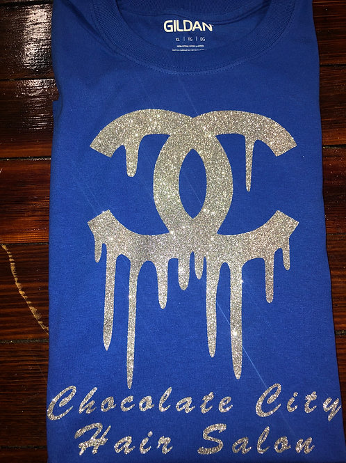 Blue & Silver CC Chocolate City T-shirt