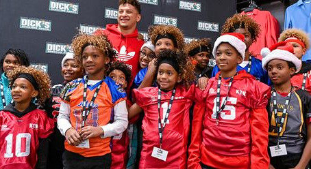 Patrick Mahomes Gives Youth Football Players a Holiday Surprise