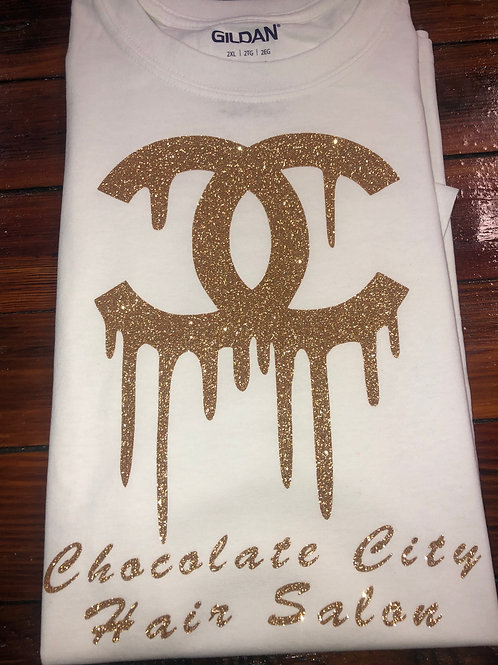 White & Gold CC Chocolate City T-shirt