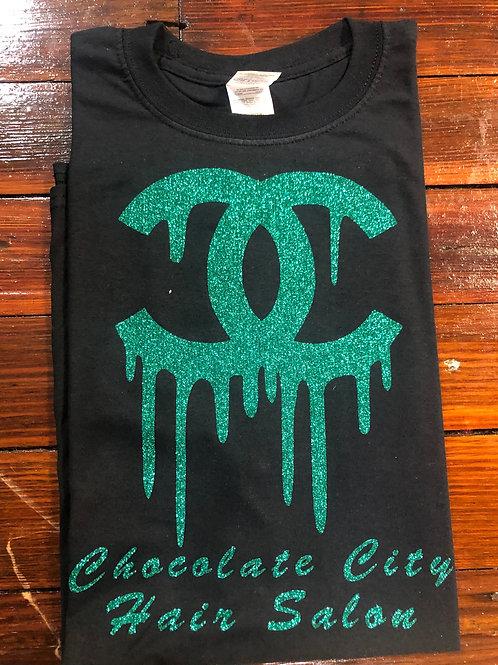 Black & Green CC Chocolate City T-shirt
