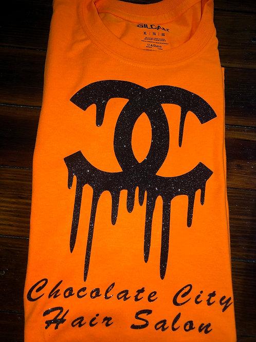 Orange & Black CC Chocolate City T-shirt
