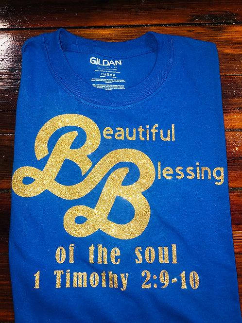 Beautiful Blessings RoyalBlue T-shirt
