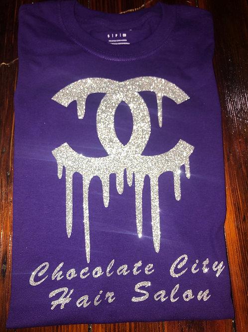 Purple & Silver CC Chocolate City T-shirt