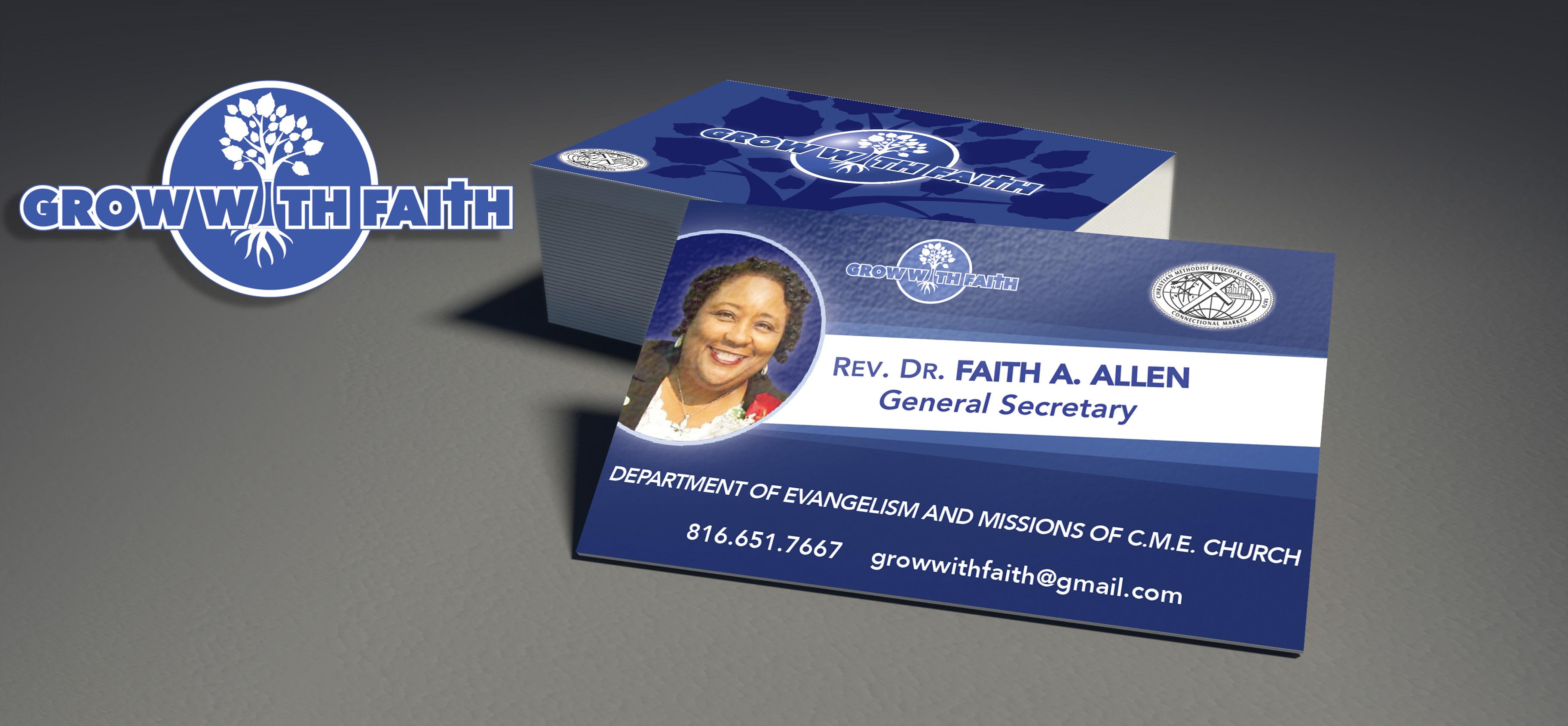 Grow With Faith Business Cards
