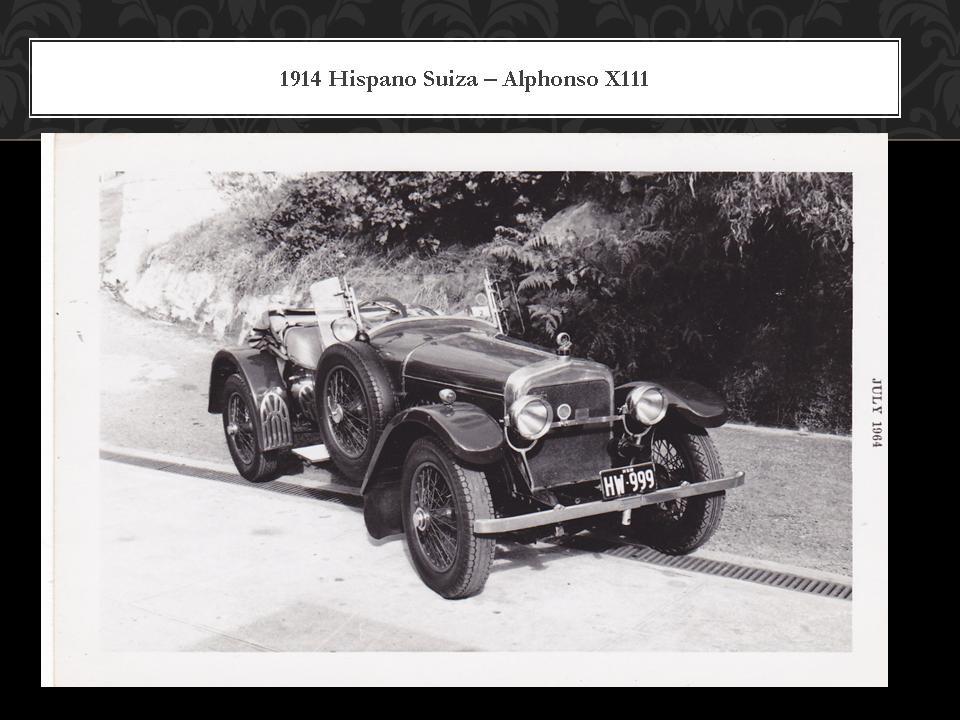 1914 Hispano Suiza  Alphonso