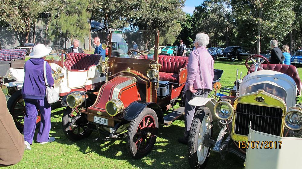 1909 Sizaire et Naudin, 1908 Renault, 1909 Delage