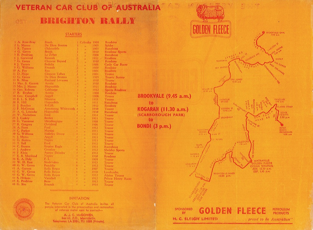Golden Fleece Entry List & route