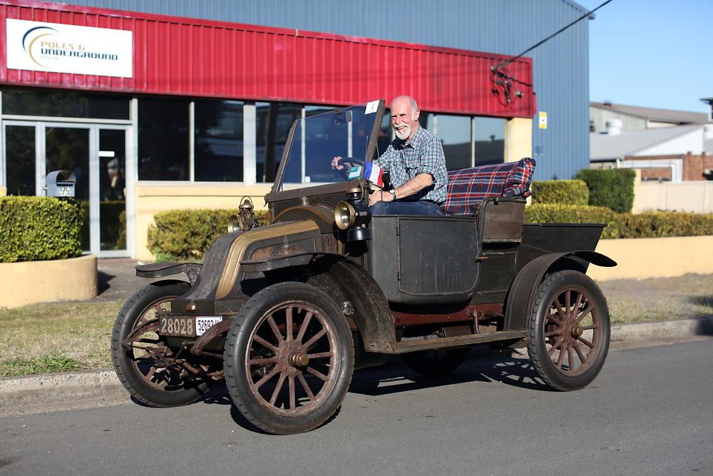 John in his 1908 Renault