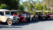 Willys Overland & four Talbots
