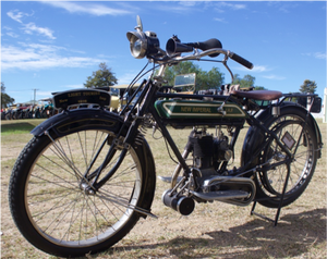 John Burke's 1916 New Imperial  which was ridden by his nephew Brendon Burke