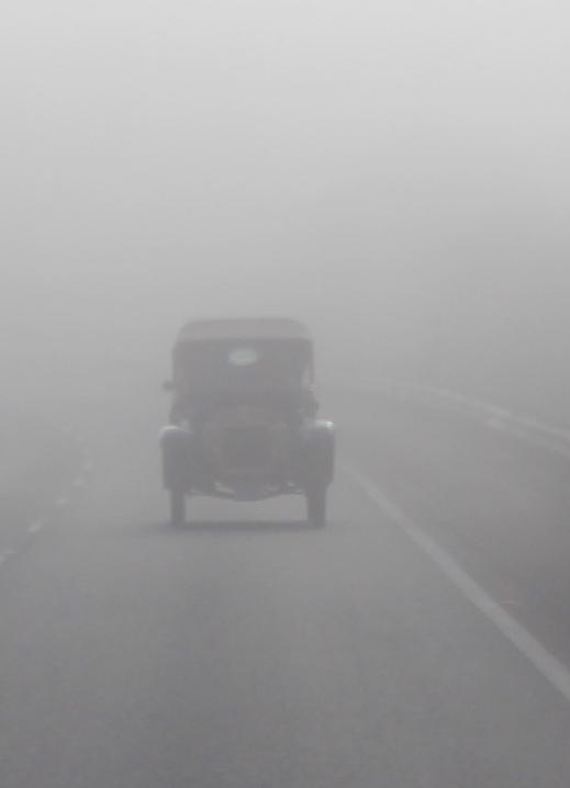 1913 Talbot in the fog