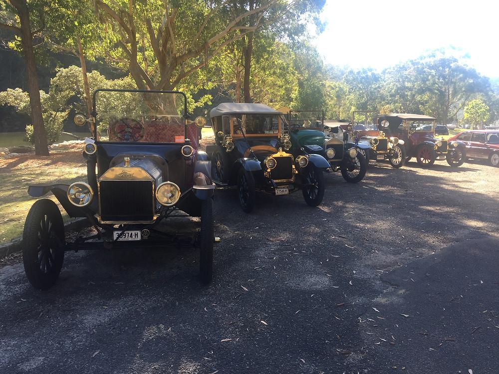 1915 T Ford, 1913 Talbot, 1914 Wolseley, 1911 & 1914 Talbots