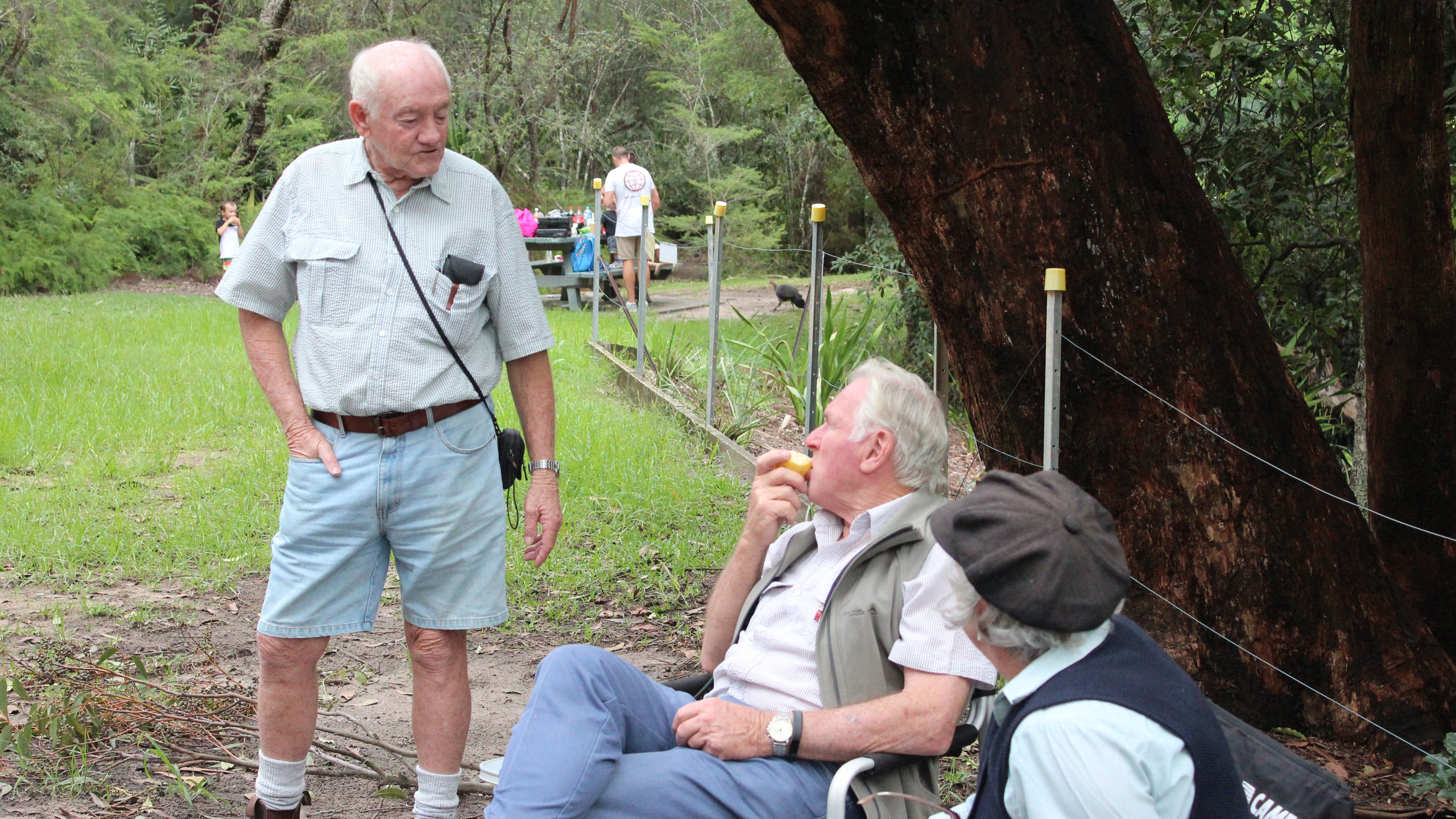 Some of our people enjoying a relaxing time at the picnic area