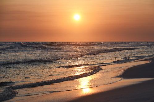 Sunset on the Ocean - Canvas print