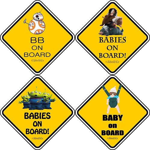 Sticker Baby On Board multiunivers