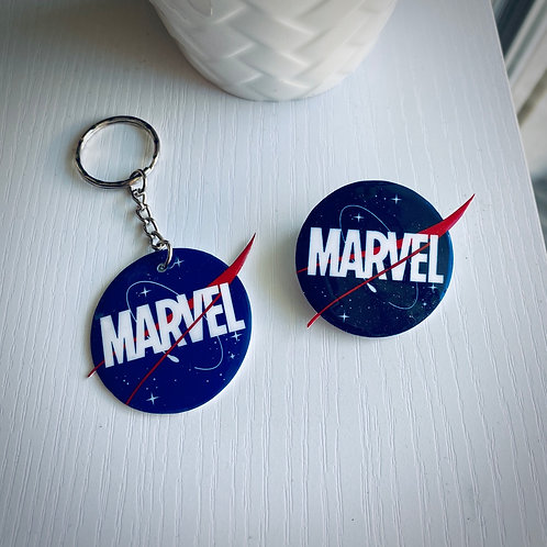 Porte clefs - Broche NASA Marvel