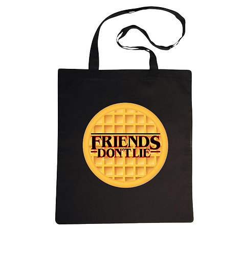 "Tote bag ""Friends don't lie"" Stranger Things"