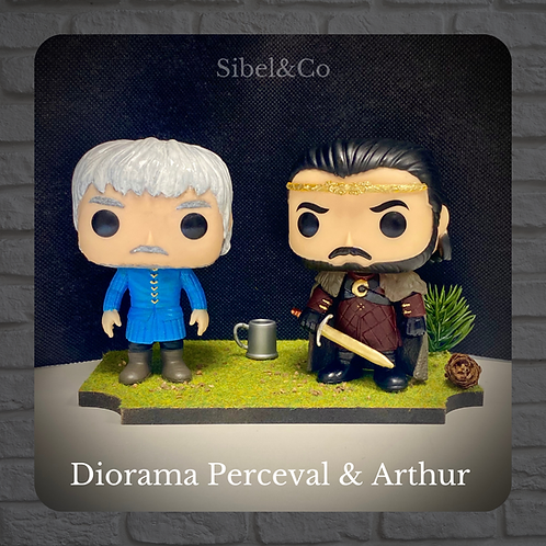 Diorama Pop Custom Perceval et Arthur