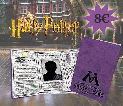 Ministry of Magic I.D. Card