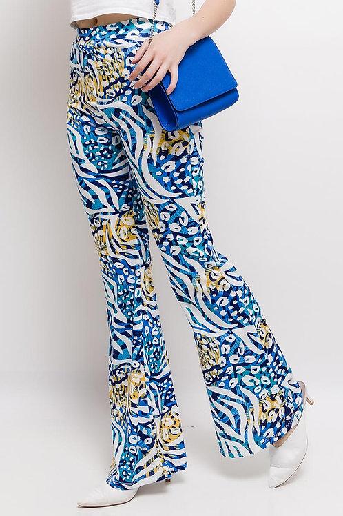 Pantalon flair imprimé