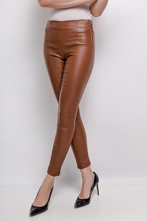 Slim simili cuir marron