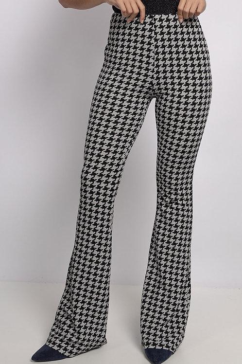Pantalon motif pied de poule