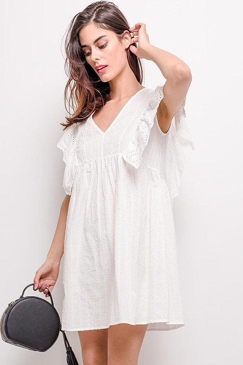 Robe blanche à broderie