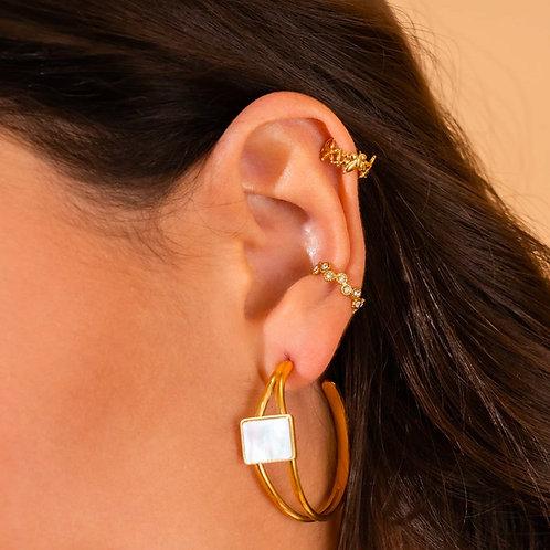 Ear cuff en acier inoxydable