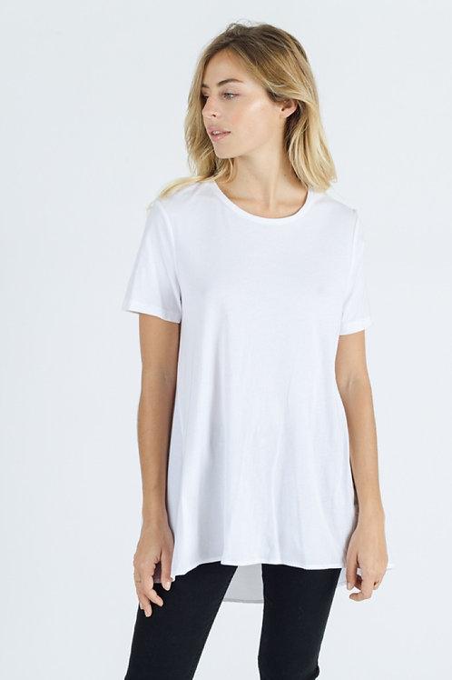 T-shirt asymétrique blanc