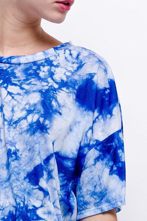Robe t-shirt tie&dye bleue