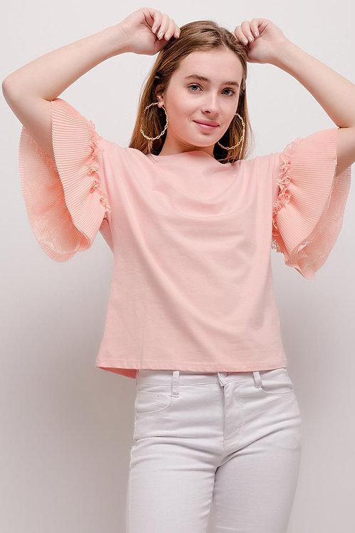 T-shirt manches volants