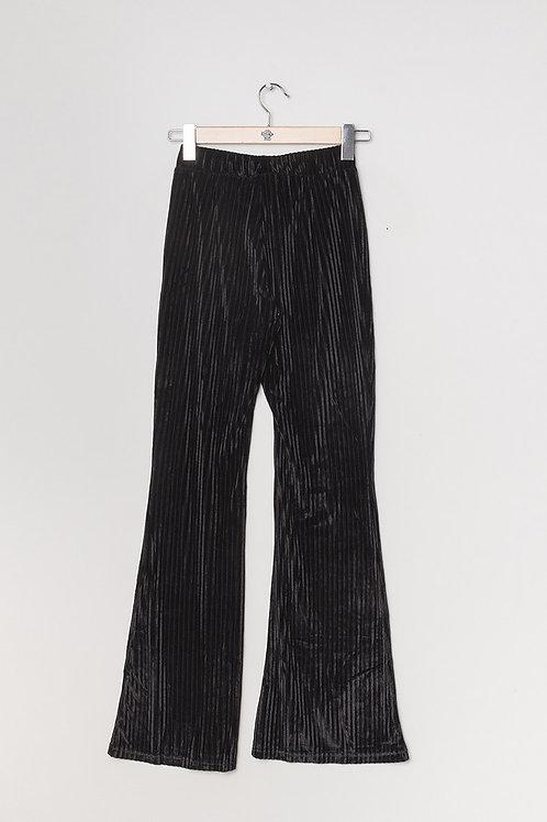 Pantalon large en velours noir