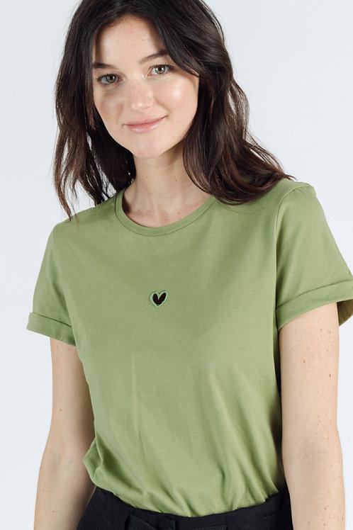 T-shirt basique coeur ajouré