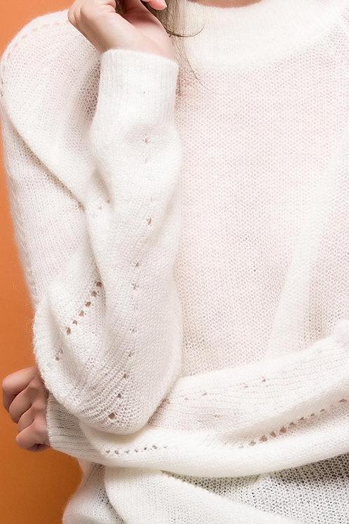 Pull en laine et mohair