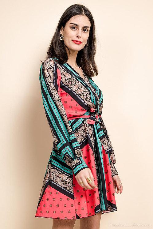 Robe à imprimé foulard