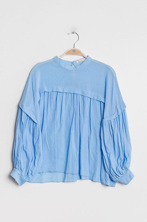 Blouse ample bleue