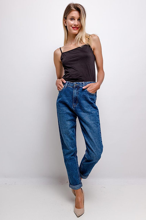 Jeans taille haute coupe mom