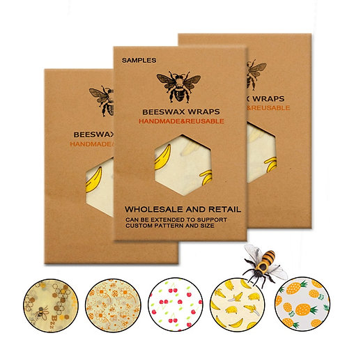 Organic and Eco Friendly Reusable Beeswax Food Wraps