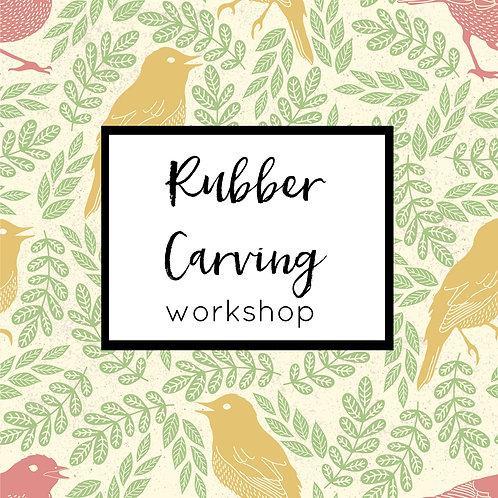 Rubber Carving Workshop