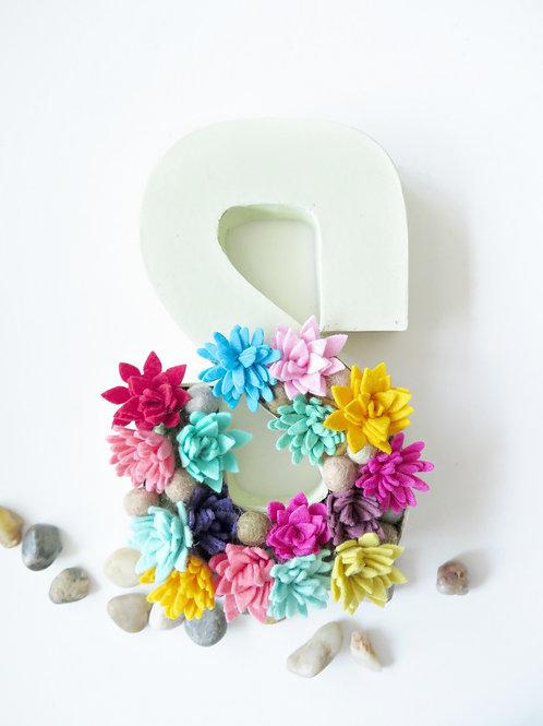 Custom Monogram Felt Flowers - Per Letter/Alphabet